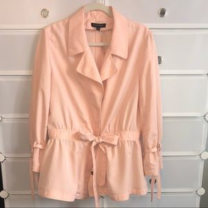 Pink light trench coat by Banana Republic